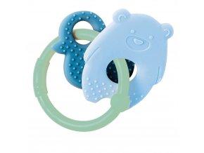 anneau de dentition silicone ours bleu