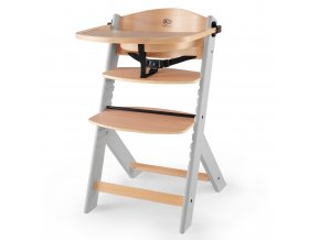 Kinderkraft Enock Grey wooden Jídelní židle