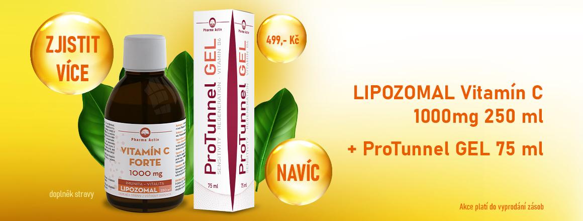 Lipozomal Vitamin C 250 ml + ProTunnel GEL 75 ml