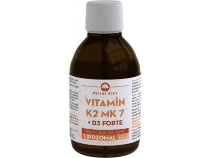 LIPOZOMAL Vitamín K2 MK7 + D3 1000 I.U. 250ml