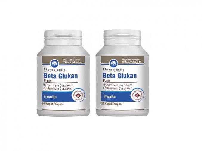 Beta Glukan Forte s vit. C a zinkem 1+1