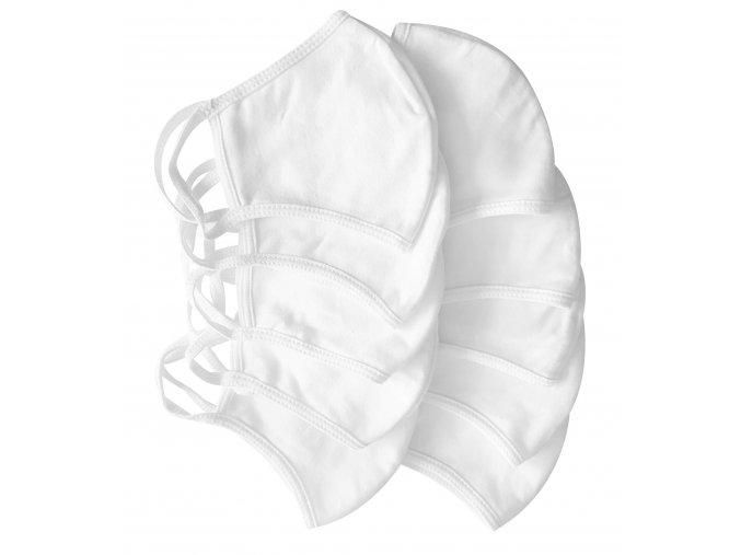 rouska bavlnena 100 2 vrstva antibakterialni baleni 10 kusu 1466209220200409134021