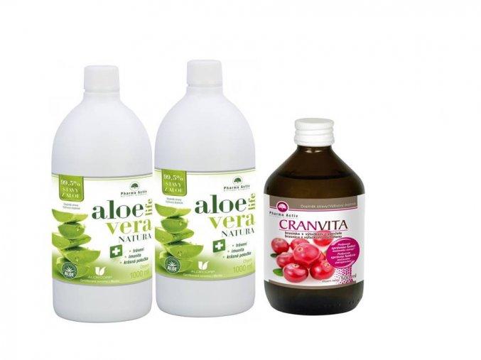 AloeVeraLife NATURA 1+1 + Cranvita 500 ml