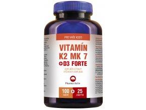 Vitamín K2 MK 7 + D3 125 tbl., EAN 8586019020885