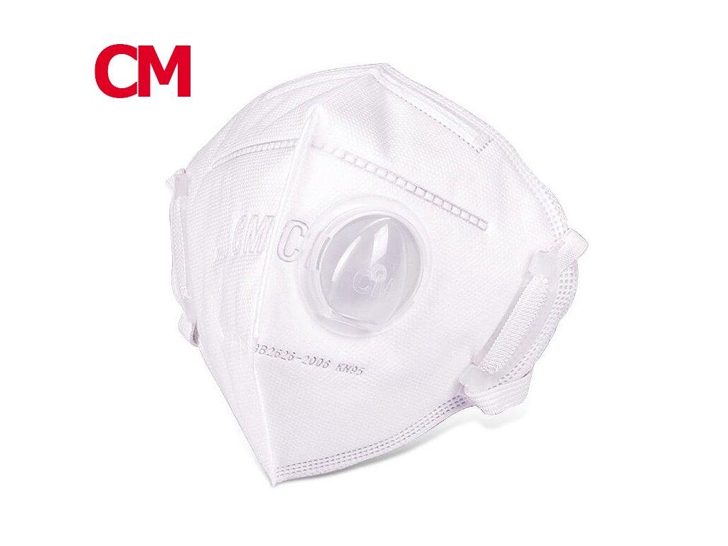 Respirator částic CM 6002A-3 s výdechovým ventilem