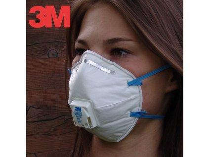 Respirator částic 3M 8822 FFP2 s výdechovým ventilem