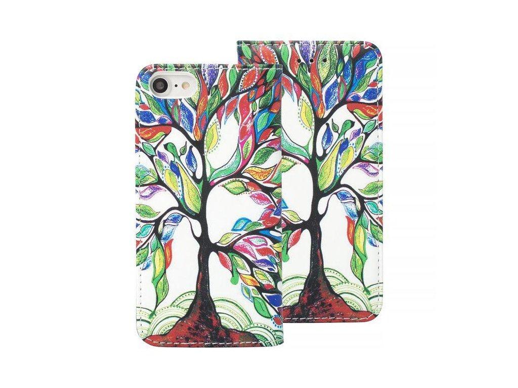 Zavírací pouzdro typu kniha - Book case pro iPhone X (grafika strom)
