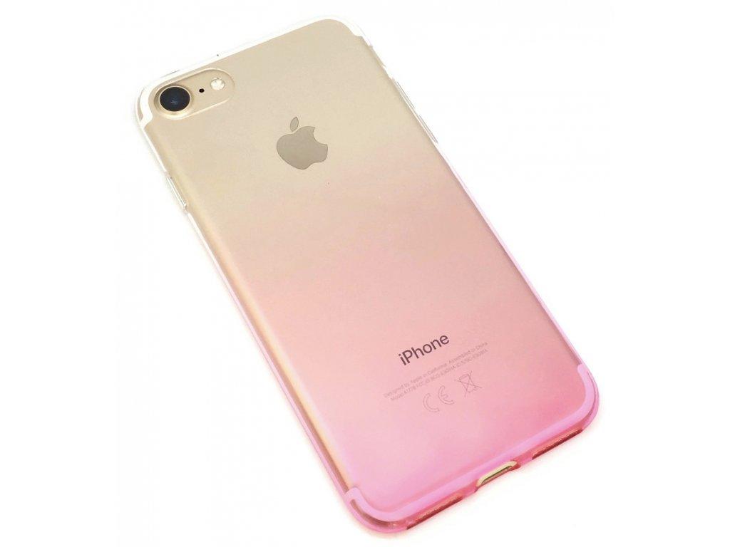 Dvoubarevný zadní kryt pro iPhone 7/8 Růžový