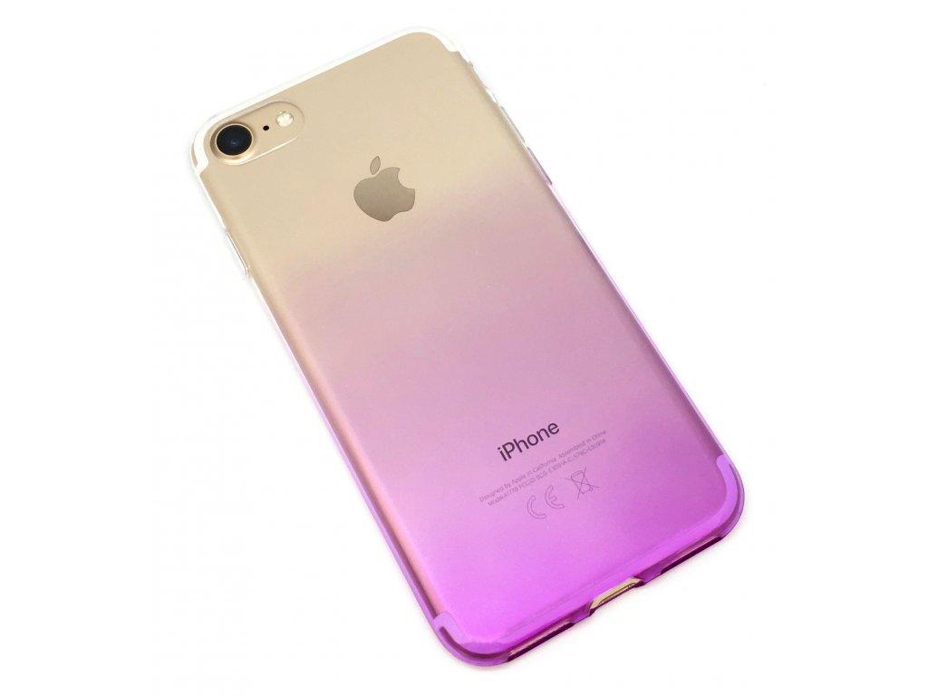 Dvoubarevný zadní kryt pro iPhone 7/8 Fialový