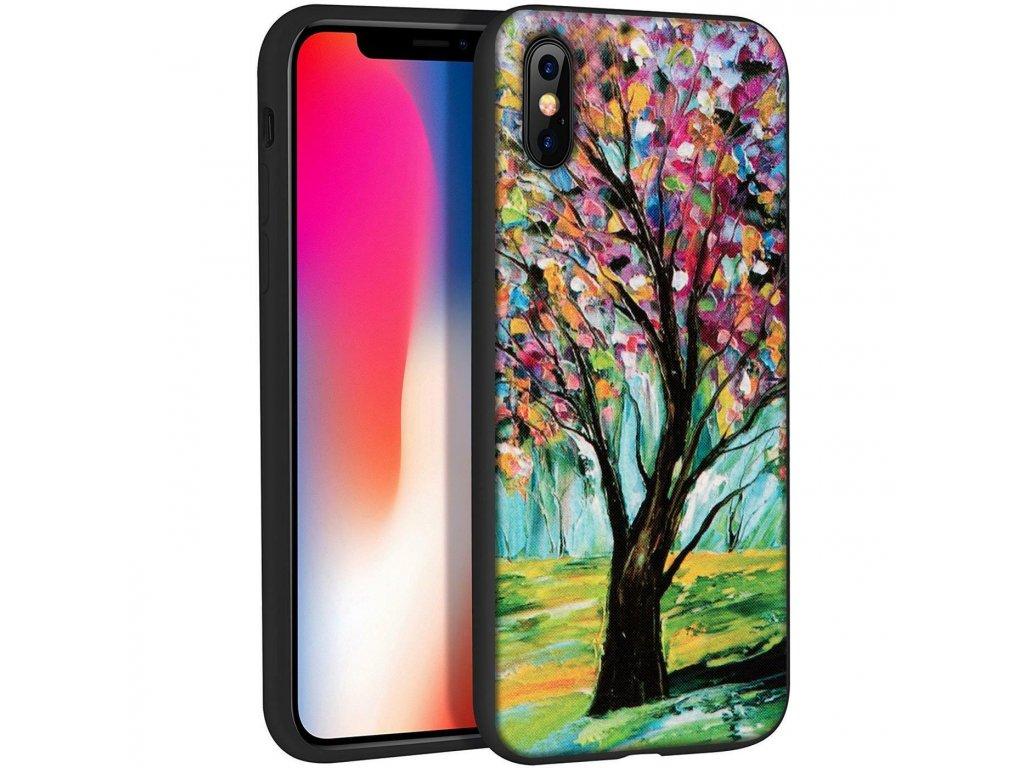 Značkový kryt na iPhone X s kresbou stromu