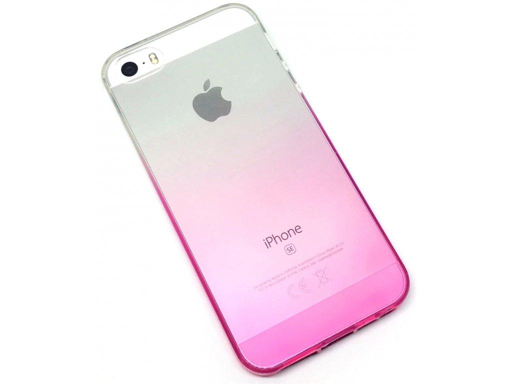 Dvoubarevný zadní kryt pro iPhone 5/5s/SE Růžový