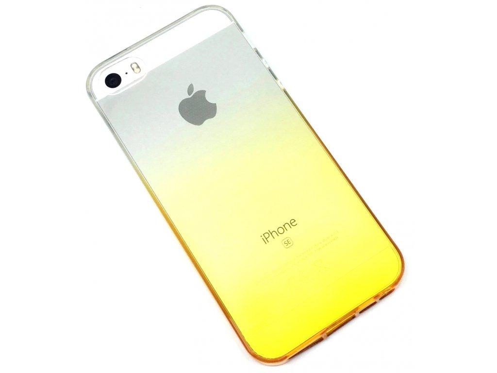 Dvoubarevný zadní kryt pro iPhone 5/5s/SE Žlutý