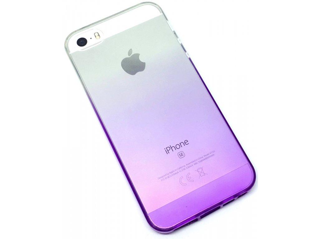 Dvoubarevný zadní kryt pro iPhone 5/5s/SE Fialový