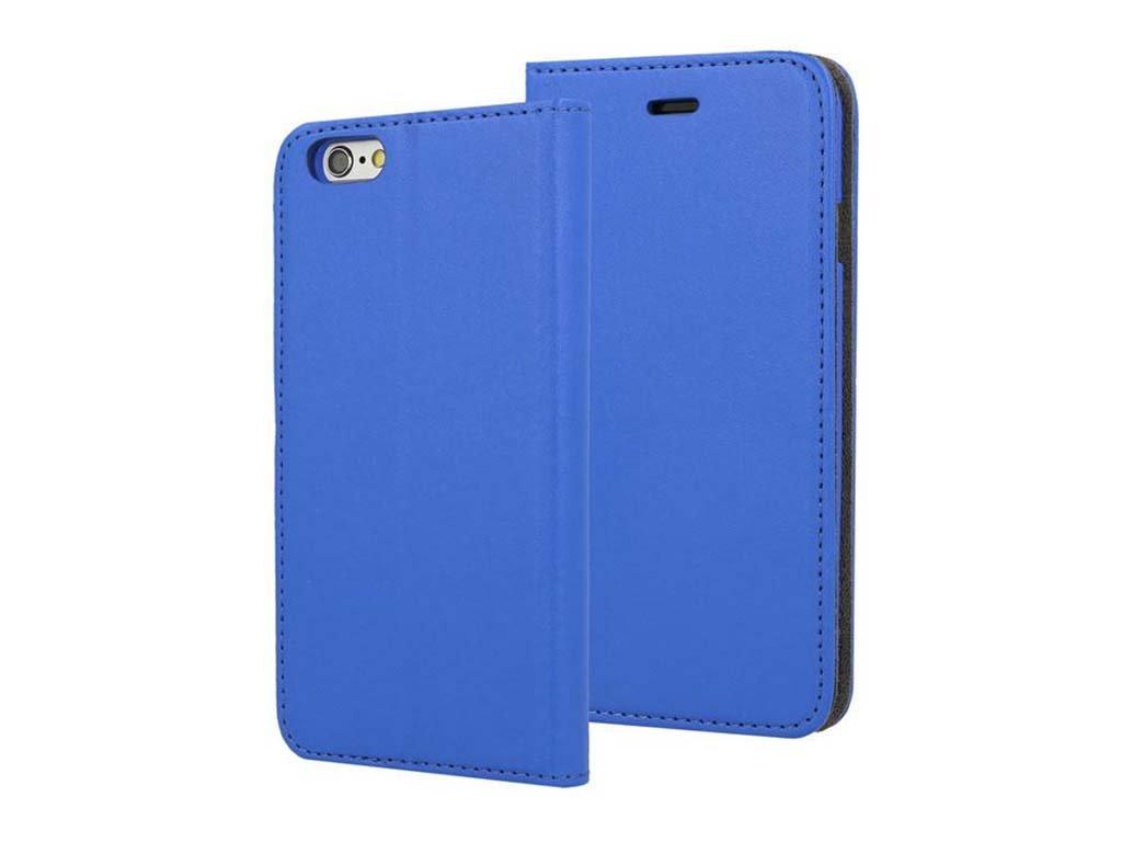 Flipové pouzdro na iPhone 7 s přihrádkou na karty - Modré