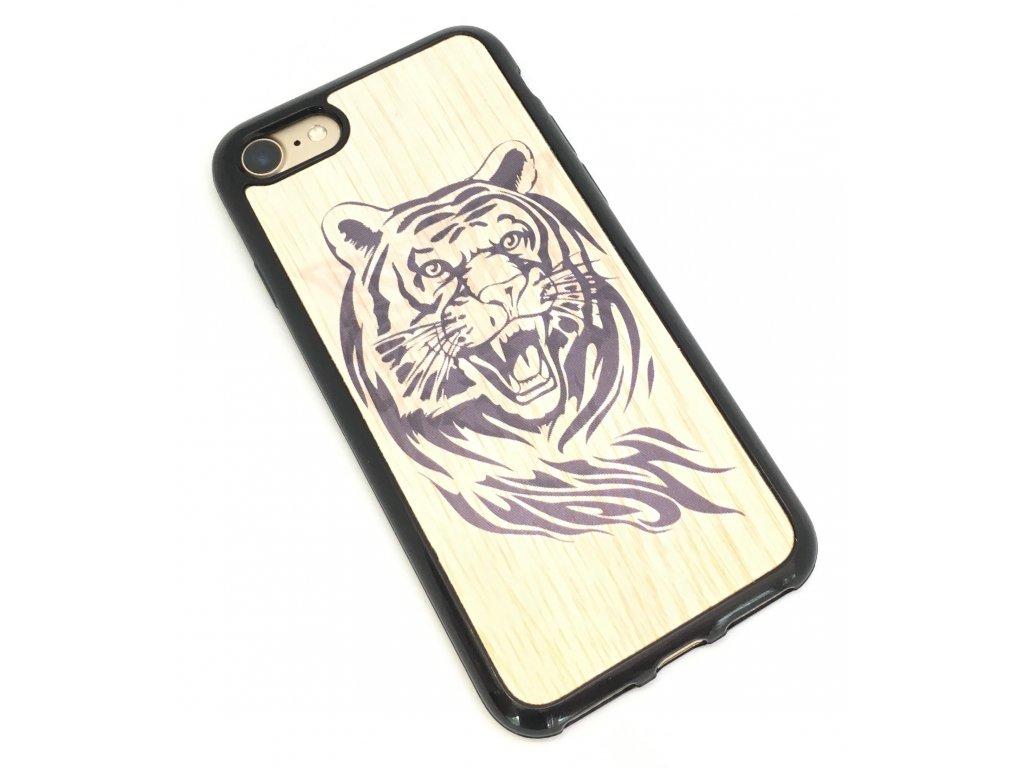 Měnící kryt na iPhone 7/8 - Tygr a vlk