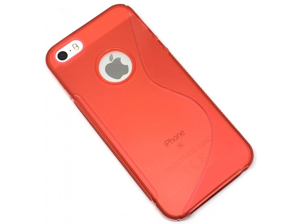 Plastový kryt na iPhone 5s červený