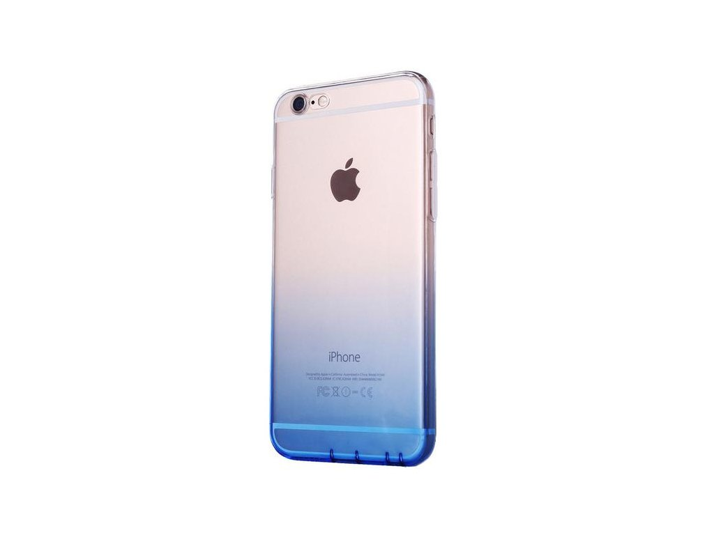 Silikonový kryt na iPhone 6/6s zbarvený do modra