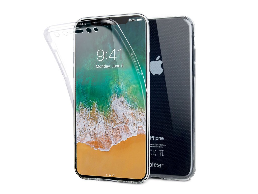 Oboustranný silikonový obal na iPhone X