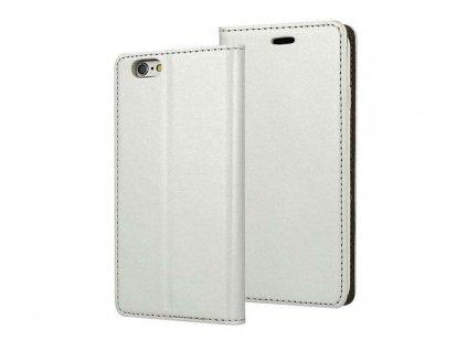 Flipové pouzdro na iPhone X stříbrné