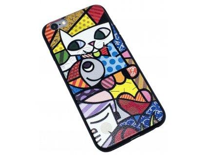 Značkový kryt na iPhone 6/6s s barevným motivem kočky