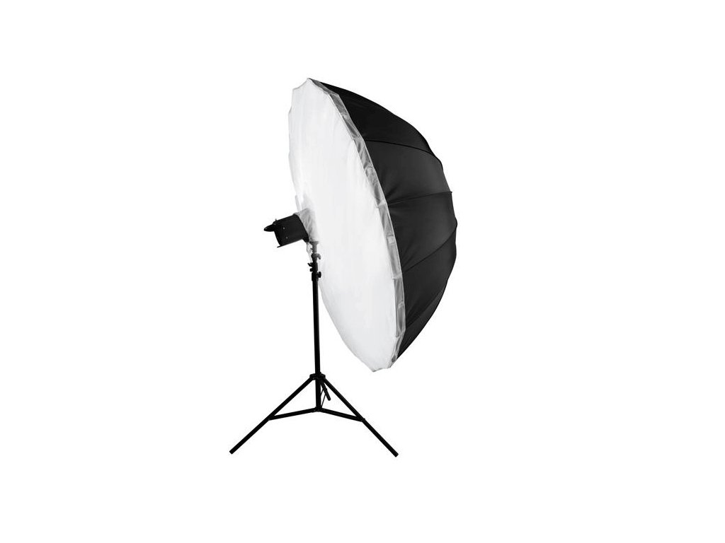 2901 big umbrella au 150 cm difuzni vrstva stribrna vnitrni odrazna plocha