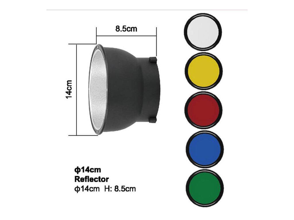 2925 1 magneticky destnikovy reflektor s barevnymi filtry