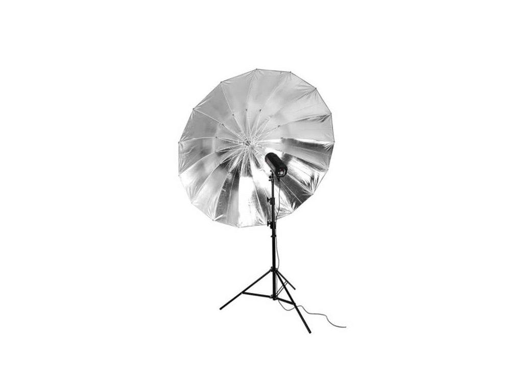 3366 big umbrella au 180 cm stribrna vnitrni odrazna plocha