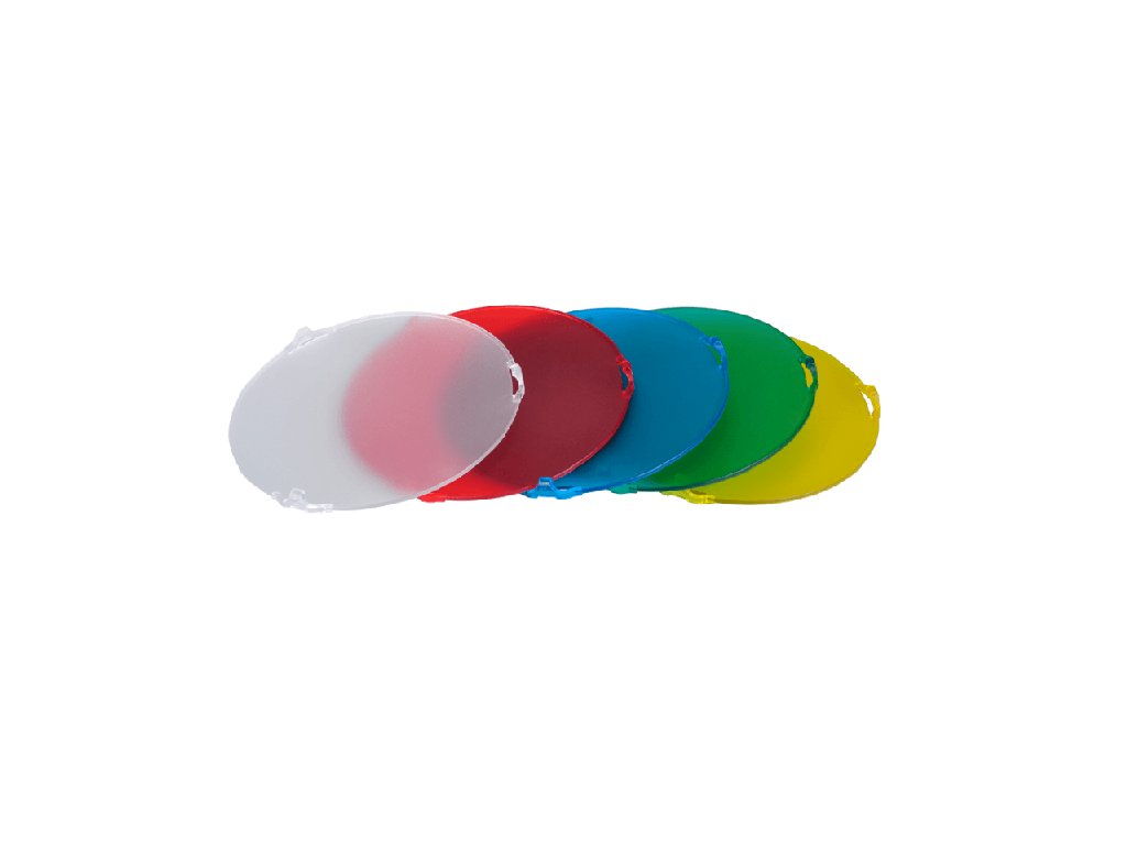 3741 sada nejpouzivanejsich barevnych filtru s uchytkami