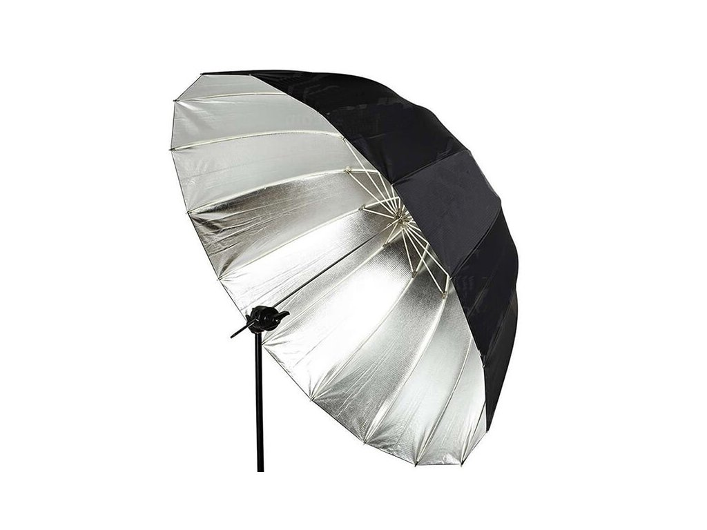 4167 deep big umbrella 170 cm stribrna vnitrni odrazna plocha