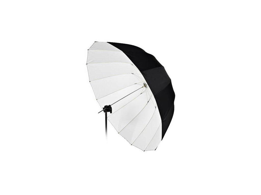 4203 deep big umbrella 135 cm bila vnitrni odrazna plocha