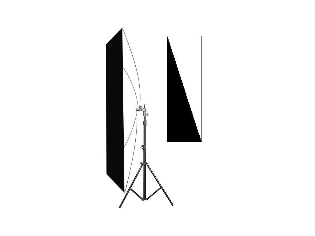 RR set - stativ + odrazný panel 90X180 cm černá/bílá