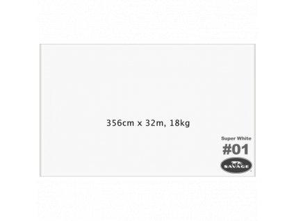 2850 papirove pozadi savage v roli 3 56 x 32m super white