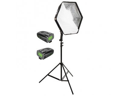 2967 magic hex 50 softbox stativ sada ttl odpalovacu