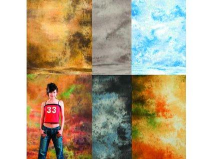 3075 set 6 ks muselinovych portretnich pozadi 3 x 6 m