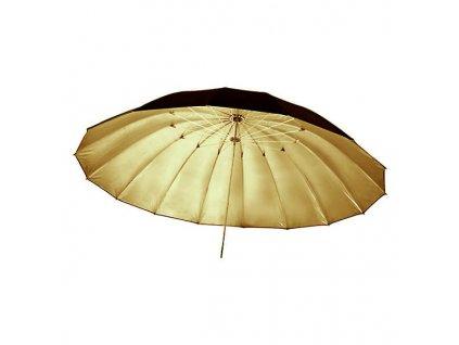 3657 big umbrella au 150 cm zlata vnitrni odrazna plocha