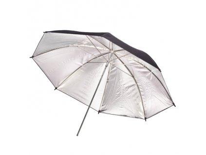 Stříbrný fotografický deštník 80 cm BS-50F