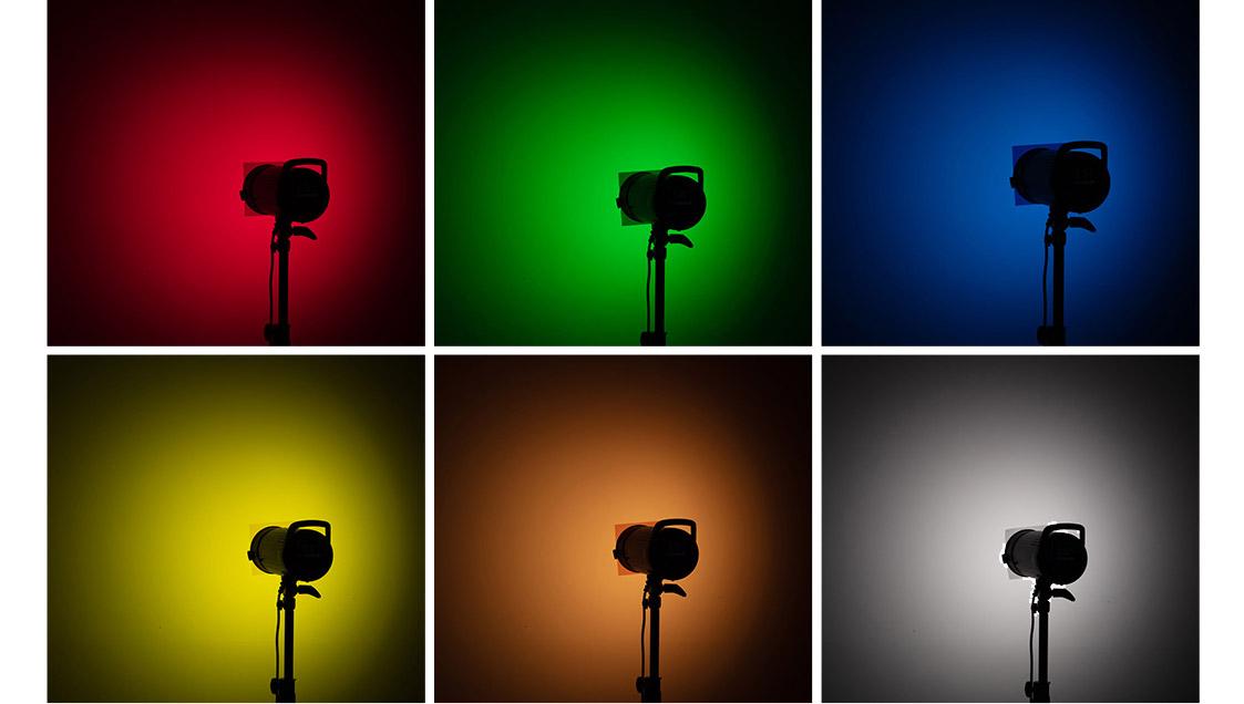 Magnetický reflektor MH s barevnými filtry
