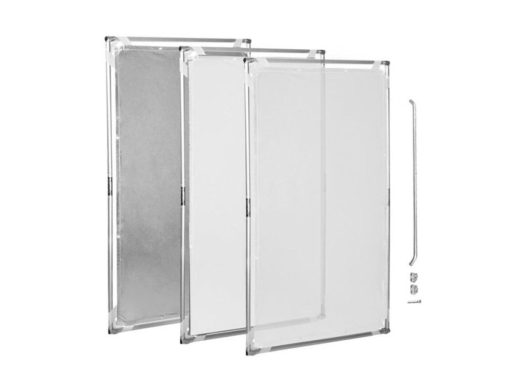 11936 difuzni odrazny panel s kovovou konstrukci 140x200cm 3in1