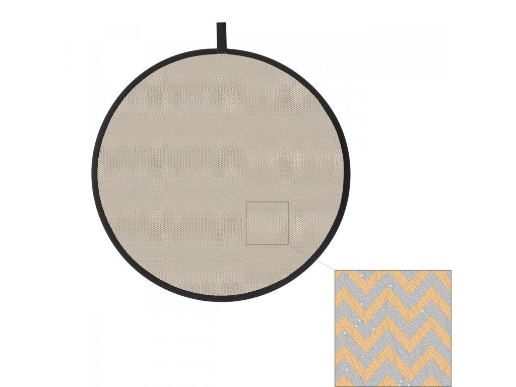 11945 odrazna deska plocha 56cm vlnkovana