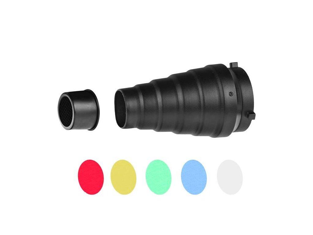 12818 kominek s barevnymi filtry a vostinou m1