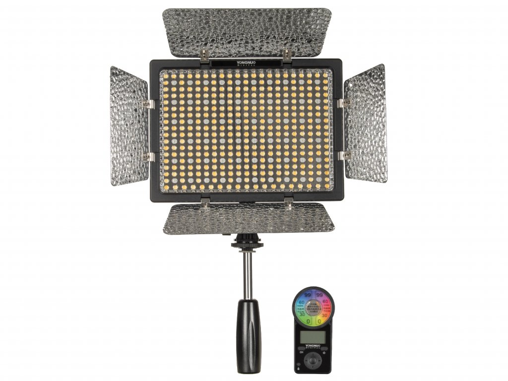 Hybridní bi-color LED trvalé světlo Yongnuo YN300 - IV, 3200 - 5500K, RGB