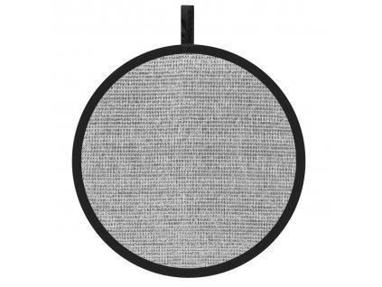11906 odrazna deska plocha 56cm stribrna perforovana
