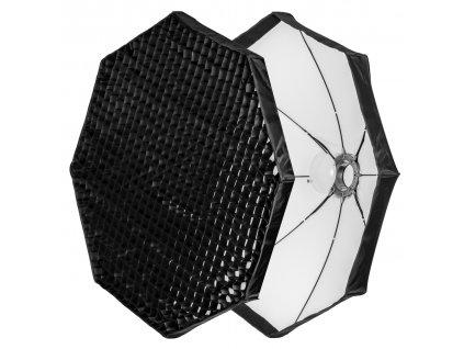 12785 beauty dish 120 cm bily rychlorozkladaci s vostinou adapter bowens