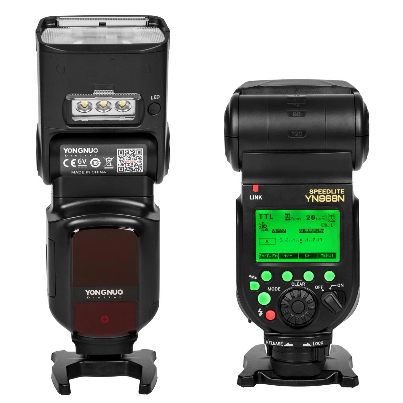 Externí systémový blesk s LED přisvícením YONGNUO YN968N Nikon, GN60
