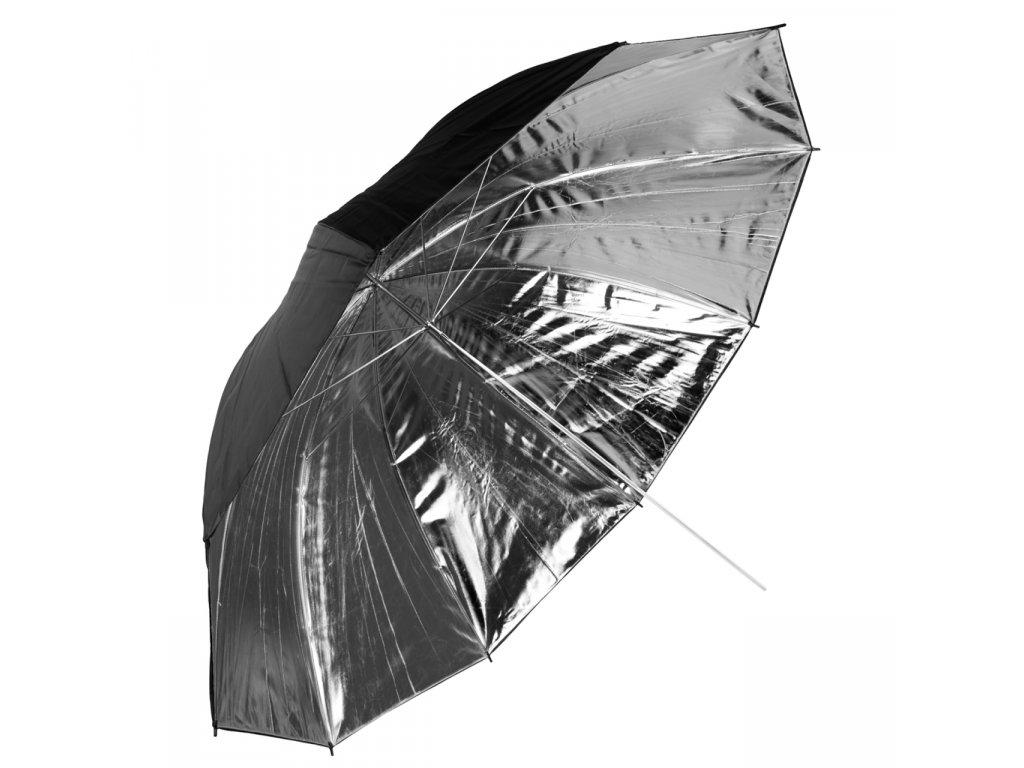 Fotografický strieborný dáždnik 140cm