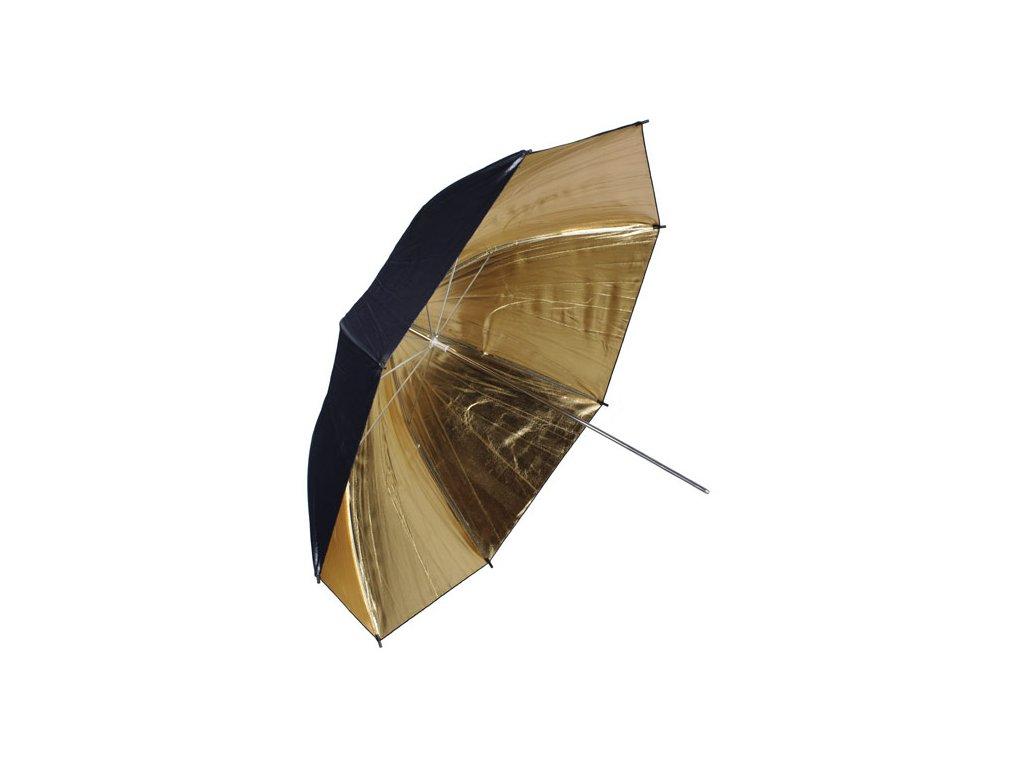 Fotografický zlatý dáždnik 102cm