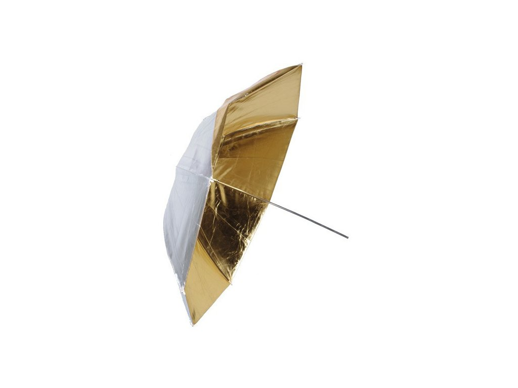 Fotografický zlatý-strieborný dáždnik 102cm