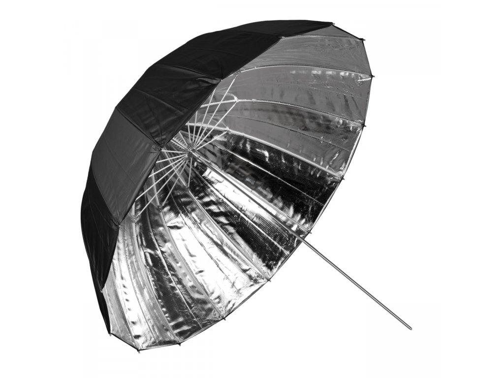 Hlboký fotografický strieborný dáždnik 102cm