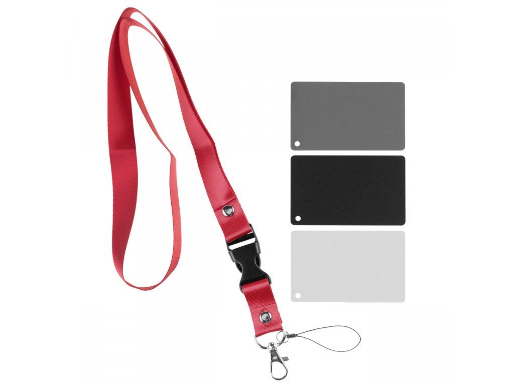 Karty pre vyváženie bielej farby, biela, čierna, šedá