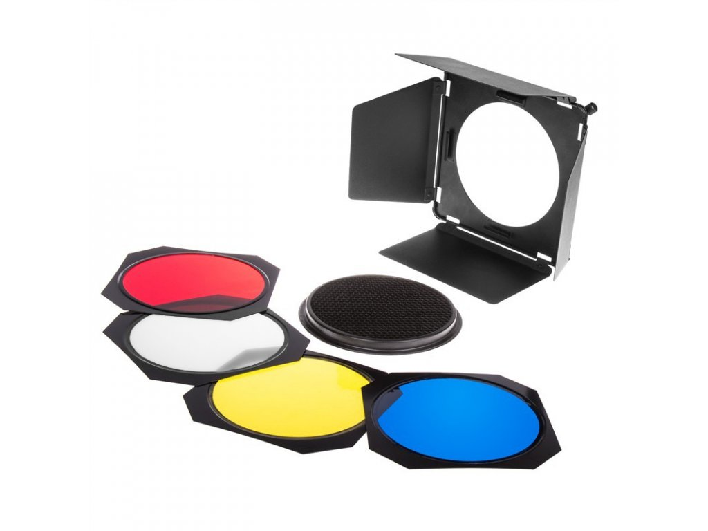 Klapky s farebnými filtrami a voštinou